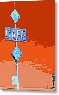 Cafe Metal Print by Charlette Miller