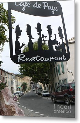 Euro Cafe Metal Print by France  Art