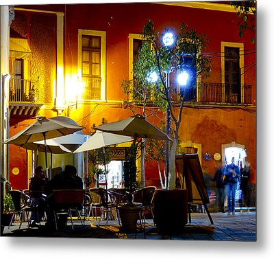 Cafe Evening Metal Print by Douglas J Fisher