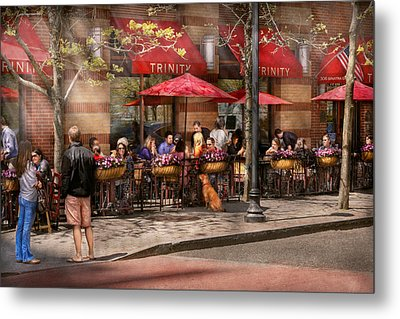 Cafe - Hoboken Nj - Cafe Trinity  Metal Print by Mike Savad