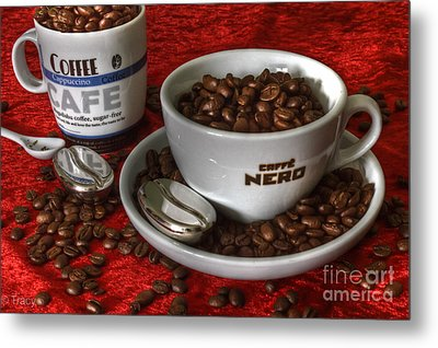 Cafe Nero Metal Print by Tracy  Hall
