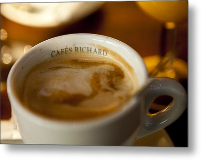 Cafes Richard Metal Print by Art Ferrier
