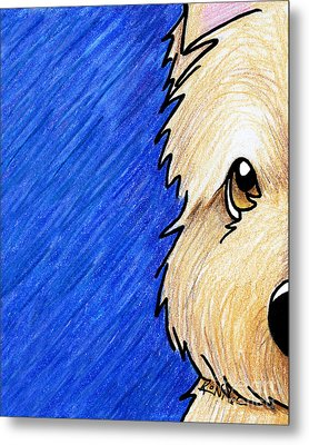 Cairn Terrier Up Close Metal Print by Kim Niles