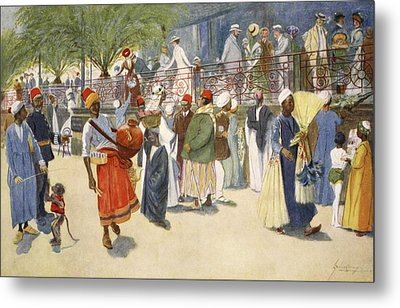 Cairo Curios; Or, The Shepheards Flock Metal Print by Lance Thackeray