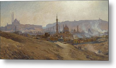 Cairo Mist Dust And Fumes Evening Metal Print by Etienne Dinet