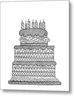 Cake Metal Print by Neeti Goswami
