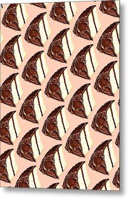 Cake Slice Pattern Metal Print by Kelly Gilleran