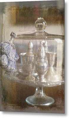 Cake Stand With Tassel Metal Print by Suzanne Powers