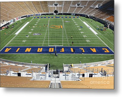 Cal Golden Bears California Memorial Stadium Berkeley California 5d24684 Metal Print by Wingsdomain Art and Photography