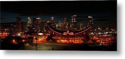 Calgary At Night Metal Print by Guy Whiteley