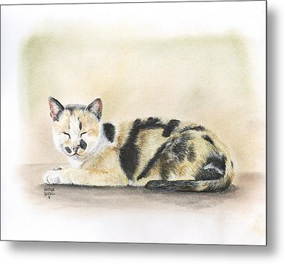 Calico Metal Print by Heather Gessell
