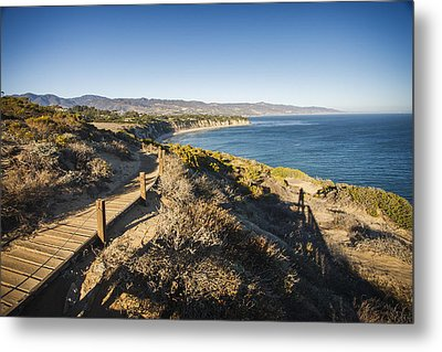 California Coastline From Point Dume Metal Print by Adam Romanowicz
