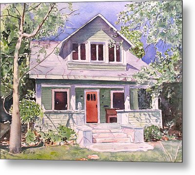 California Craftsman Cottage Metal Print by Patricia Pushaw