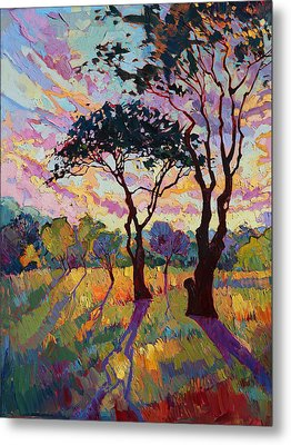 California Sky Quadtych - Lower Left Panel Metal Print by Erin Hanson