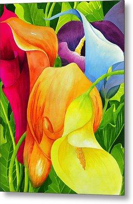 Calla Lily Rainbow Metal Print by Janis Grau