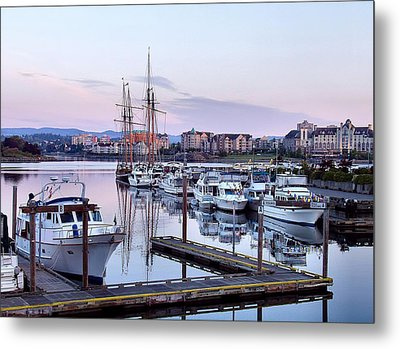 Calm In The Harbour Metal Print by Jenny Hudson