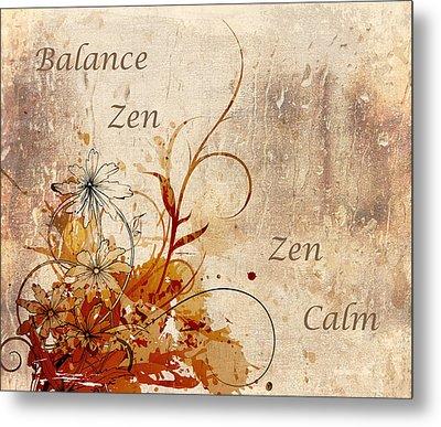 Calming Zen Metal Print by Georgiana Romanovna