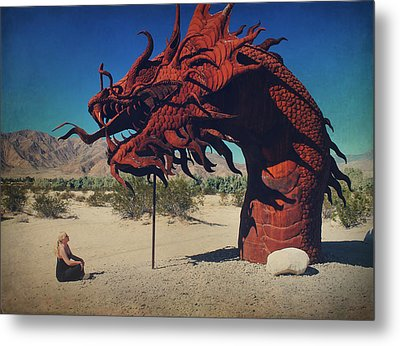 Calmly Facing Down My Demon Metal Print by Laurie Search