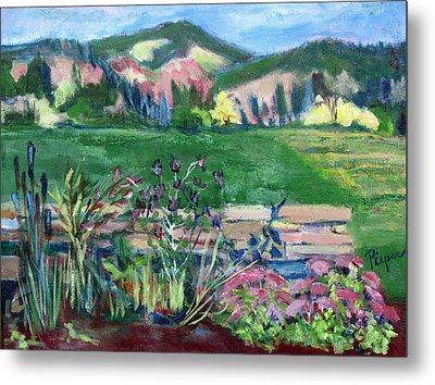 Cambridge Countryside Metal Print by Betty Pieper