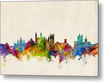 Cambridge England Skyline Metal Print by Michael Tompsett