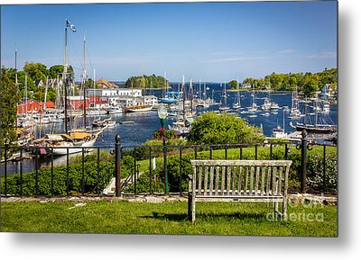 Camden Harbor Metal Print by Benjamin Williamson