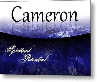 Cameron - Spiritual Potential Metal Print by Christopher Gaston