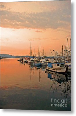 Campbell River Marina Metal Print by Nancy Harrison