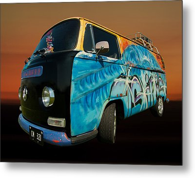 Camper Van Paint Job Metal Print by Pete Hemington