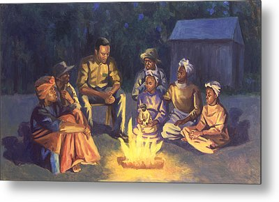 Campfire Stories Metal Print by Colin Bootman