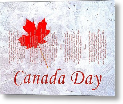 Canada Day .. The Maple Leaf Forever Metal Print by The Creative Minds Art and Photography