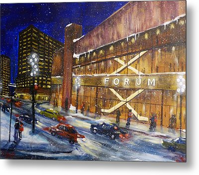 Canadiens Hockey At Montreal Forum Metal Print by Brent Arlitt