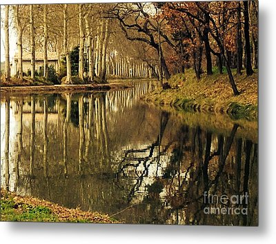 Canal Reflections Metal Print by France  Art