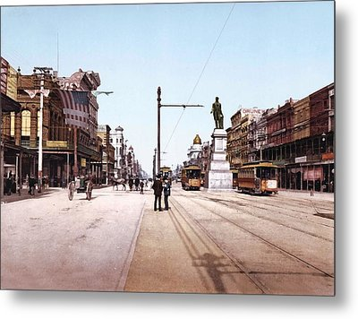 Canal Street New Orleans 1900 Metal Print by Unknown