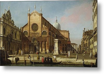 Canaletto Venice The Campo Ss. Giovanni E Paolo 1736 40 Metal Print by MotionAge Designs