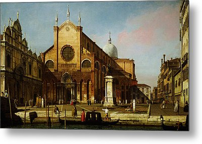 Canaletto Venice The Campo Ss Metal Print by MotionAge Designs