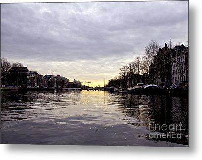 Canals Of Amsterdam Metal Print by Pravine Chester