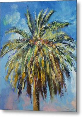 Canary Island Date Palm Metal Print by Michael Creese