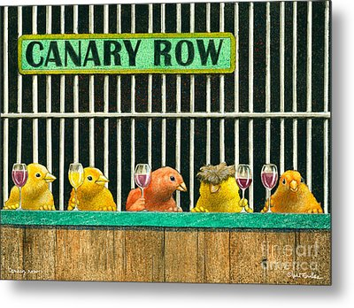 Canary Row... Metal Print by Will Bullas