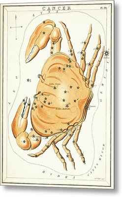 Cancer Constellation - 1825 Metal Print by Daniel Hagerman