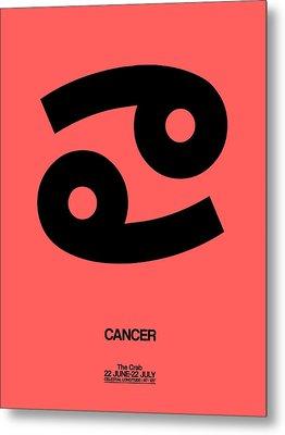 Cancer Zodiac Sign Black Metal Print by Naxart Studio