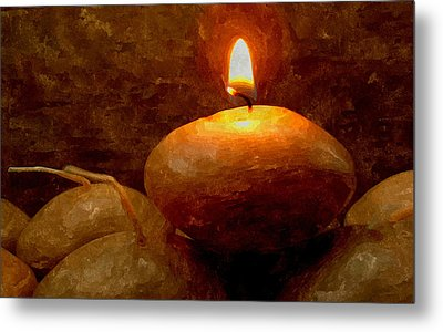 Candle Metal Print by Lanjee Chee