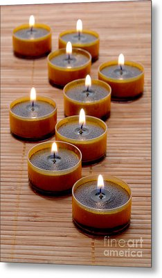 Candles Metal Print by Olivier Le Queinec