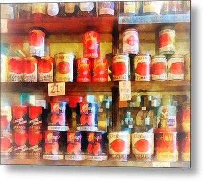 Canned Tomatoes Metal Print by Susan Savad