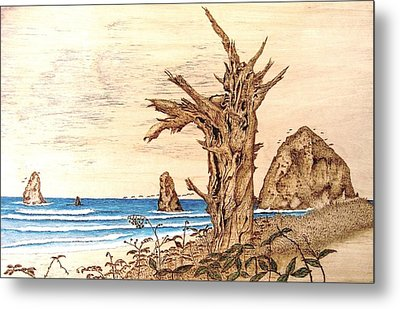 Cannon Beach In October Metal Print by Roger Storey
