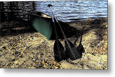 Canoe Metal Print by Cheryl Young