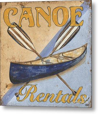 Canoe Rentals Metal Print by Debbie DeWitt