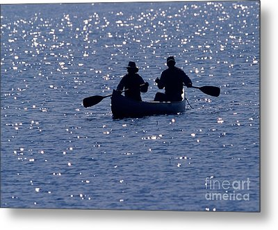 Canoeing Metal Print by Ron Sanford