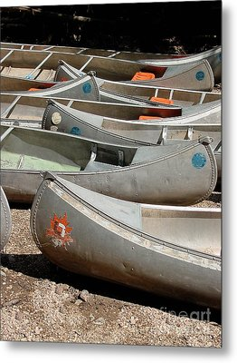 Canoes 143 Metal Print by Gary Gingrich Galleries