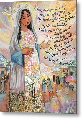 Canticle Of Mary Metal Print by Jen Norton