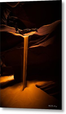 Canyon Sand From Above Metal Print by Bill Cantey